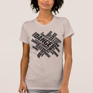 T-shirt Danse typographique (affligée)