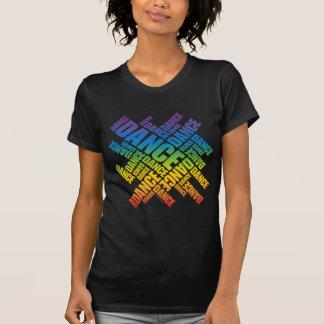 T-shirt Danse typographique (spectre)