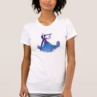 T-shirt Danseurs de salle de bal d'aquarelle