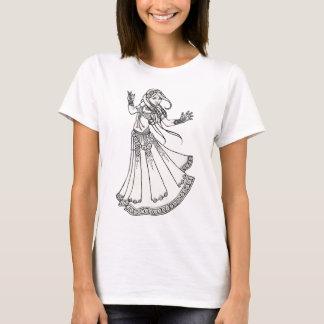 T-shirt Danseuse du ventre de tribal de henné