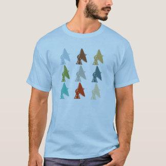 T-shirt d'antenne parabolique d'astronomie