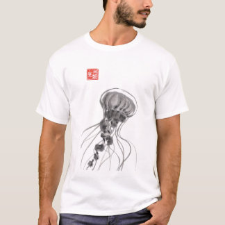 T-shirt d'aquarelle de méduses de Chrysaora