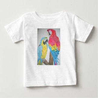 T-shirt d'aquarelle de perroquets d'aras