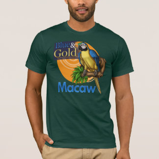 T-shirt d'ara de bleu et d'or