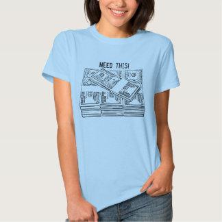 T-shirt d'argent d'argent liquide