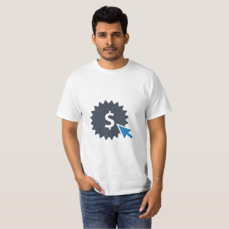 T-shirt d'argent de clic