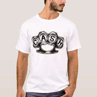 T-shirt d'argent liquide dans le blanc