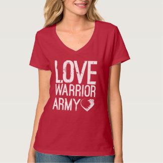 T-shirt d'armée de guerrier d'amour