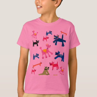 T-shirt d'art : Chiens cornouaillais fous