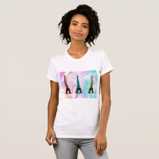T-shirt d'art de bouteille de Tour Eiffel