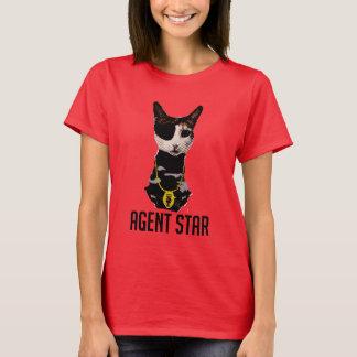 T-shirt d'art de bruit d'étoile d'agent