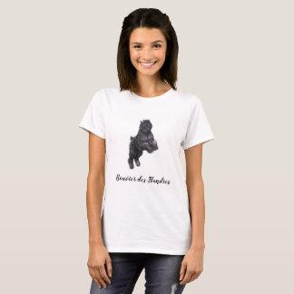 T-shirt d'art de chien de DES Flandres de Bouvier