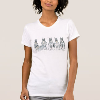 T-shirt d'art de chien de Schnauzer standard