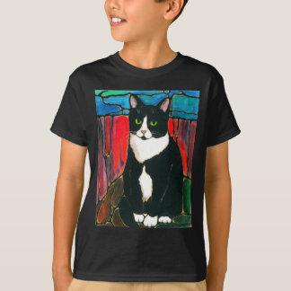 T-shirt d'art de conception en verre souillé de