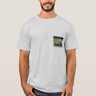 T-shirt d'atome d'Ariel avec le drapeau