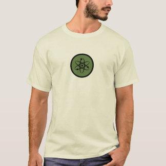 T-shirt d'atome de physique sur le fond clair