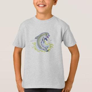 T-shirt dauphin de éclaboussement heureux de bébé