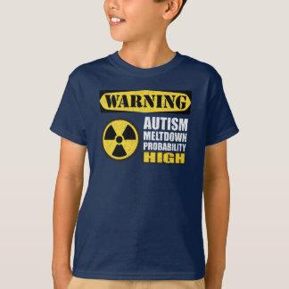 T-shirt d'avertissement de fusion d'autisme