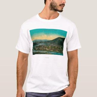 T-shirt Dawson, vue de ville de territoire de l'Alaska le
