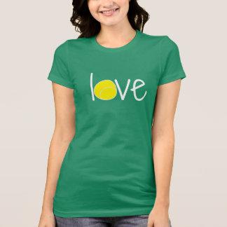 """T-shirt de """"amour"""" de tennis"""