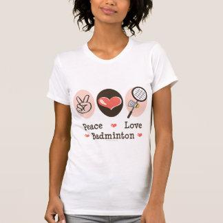 T-shirt de badminton d'amour de paix