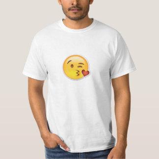 T-shirt de baiser impressionnant d'Emoji