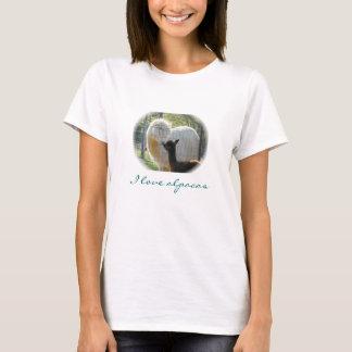 T-shirt de baisers d'alpaga