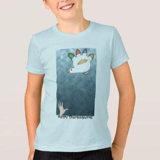 T-shirt de ballon de la Turquie de main