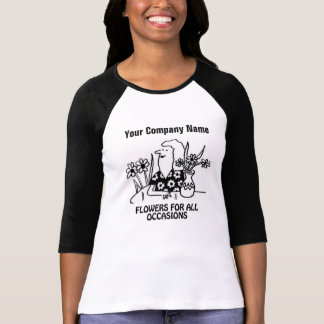T-shirt de bande dessinée de fleuriste