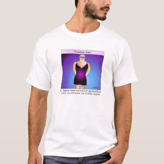 T-shirt de bande dessinée de glissements freudiens