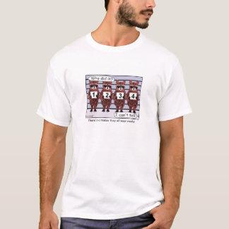 T-shirt de bande dessinée de ligne de raton laveur