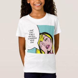 T-shirt de bande dessinée de star de cinéma
