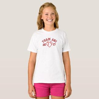 T-shirt de base-ball de coeur de filles d'Ari