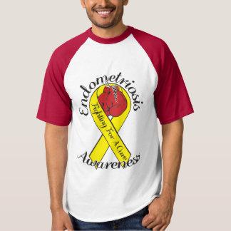 T-shirt de base-ball de CONSCIENCE d'ENDOMÉTRIOSE