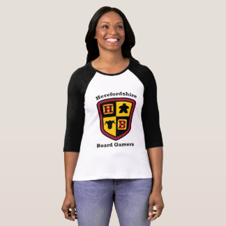 T-shirt de base-ball de dames de Gamers de conseil