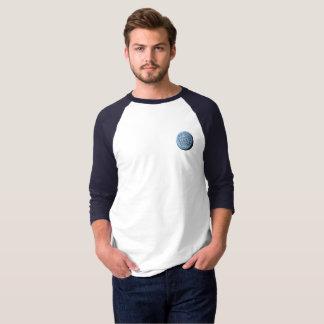 T-shirt de base-ball de lune de MST3K (marine)