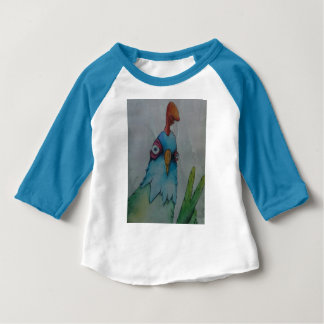 T-shirt de base-ball de poulet d'enfant en bas âge