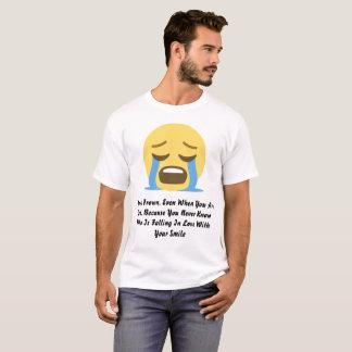 T-shirt de base de citations d'Emoji