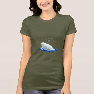 T-shirt de base de dames de baleine de beluga