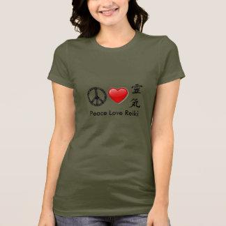 T-shirt de base de dames de Reiki d'amour de paix