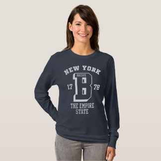 T-shirt de base de la douille des femmes de New