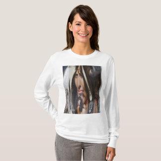 T-shirt de base de la douille des femmes long