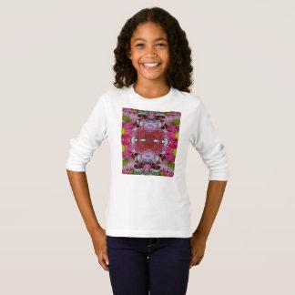 T-shirt de base de la douille des filles long