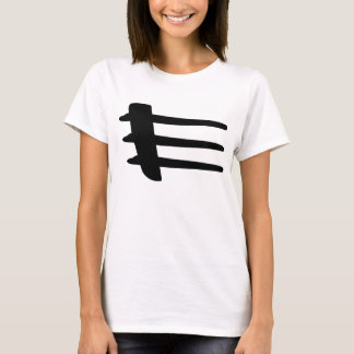 T-shirt de base de liston de côté de courant
