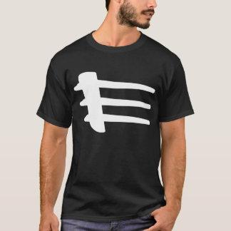 T-shirt de base de liston latéral blanc de courant