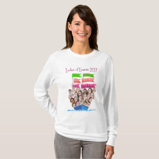 T-shirt de base de logo de douille de dames long