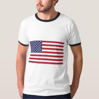 T-shirt de base de sonnerie du drapeau americana