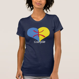 T-shirt de base des dames 2 de coeur de Kabylia