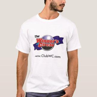T-shirt de base du cercle du gagnant