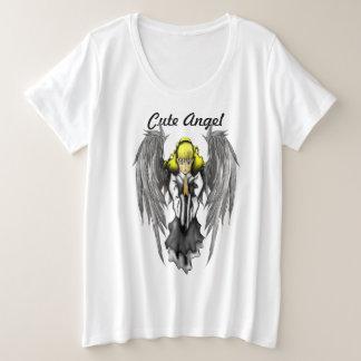 T-shirt de base du Plus-Size des femmes mignonnes